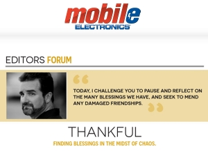 Thankful - Mobile Electronics Editors Forum