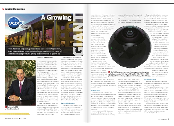 June Issue Behind The Scenes: VOXX - A Growing Giant