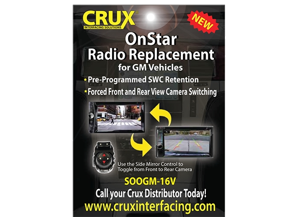 CRUX RELEASES ALL IN ONE GM RADIO REPLACEMENT INTERFACE WITH VIDEO SWITCHING