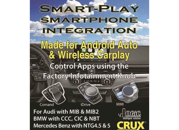 CRUX Launches Smart-Play Integration series for Android Auto & Wireless CarPlay