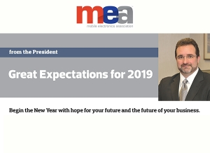 ME-Mag January Issue: From the President - Great Expectations for 2019