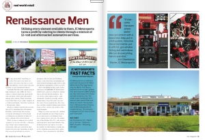 May Issue Real World Retail: Renaissance Men- JC Motorsports